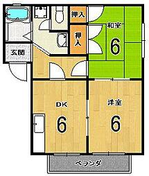 メゾン松ノ木[1階]の間取り