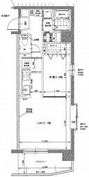 岡山電気軌道清輝橋線 清輝橋駅 3.7kmの賃貸マンション 1階1LDKの間取り