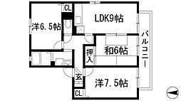 シェーンハイムA棟[2階]の間取り