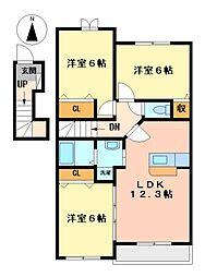 アルジェントII[2階]の間取り