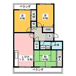 ステラ21[3階]の間取り