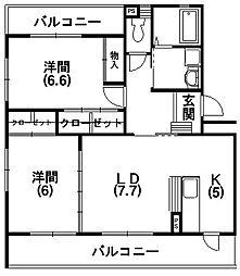 プログレス2[3階]の間取り