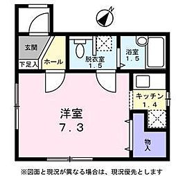 東京都品川区東大井3丁目の賃貸アパートの間取り