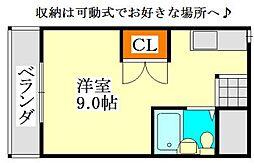 シャンテ津田沼B[201号室]の間取り