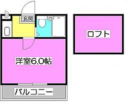 東京都練馬区石神井台5丁目の賃貸アパートの間取り