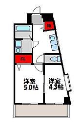 第2中野ハイツ[5階]の間取り