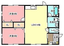 [一戸建] 静岡県浜松市中区茄子町 の賃貸【/】の間取り