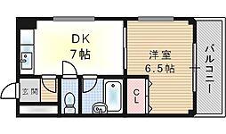 クリア福島[2階]の間取り