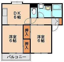 エステート須玖[1階]の間取り