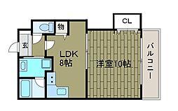 サニーハイツクボタ[2階]の間取り