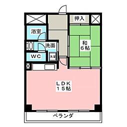 ファルコン熱田[3階]の間取り