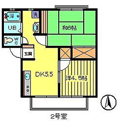 第2アーバンホーム吉清[1階]の間取り