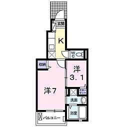 日野アパート[0103号室]の間取り