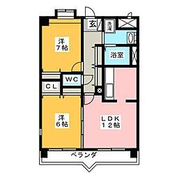 Residential岡崎[2階]の間取り