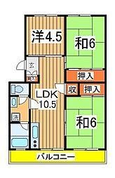 ドエル・ホーユー江戸川台[306号室]の間取り