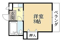 カースルONE[3階]の間取り