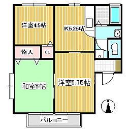 パームガーデン[2階]の間取り