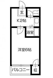 キングスコート[4階]の間取り