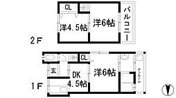 [一戸建] 兵庫県川西市平野2丁目 の賃貸【/】の間取り