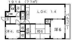 ハウスフルYOSHIHIRO(ハウスフルヨシヒロ)[103号室号室]の間取り