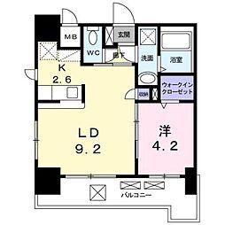 JR鹿児島本線 箱崎駅 バス12分 オロシアム下車 徒歩4分の賃貸マンション 4階1LDKの間取り
