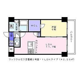 リッツラムセス3番館[3階]の間取り
