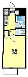 愛知環状鉄道 八草駅 徒歩15分の賃貸マンション 4階1Kの間取り