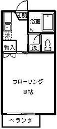 ネオファミーユ天台[102号室]の間取り