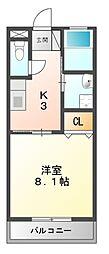 インターネットハウス江島[1階]の間取り