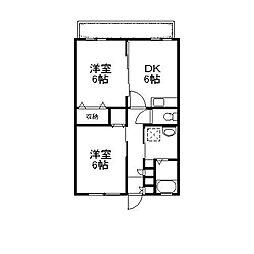 サンホワイトM504[2階]の間取り