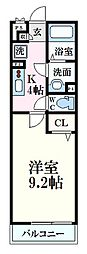 広島電鉄1系統 海岸通駅 徒歩3分の賃貸アパート 1階1Kの間取り