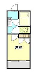 プラザ ドゥ ミラ[2階]の間取り