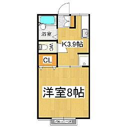 シティハイム笹賀[1階]の間取り