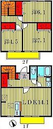 [テラスハウス] 千葉県松戸市根木内 の賃貸【千葉県 / 松戸市】の間取り