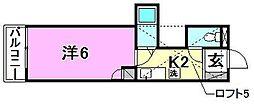 パルコート古川[206 号室号室]の間取り