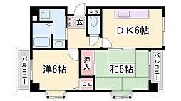 セルフィーユ兵庫[4階]の間取り