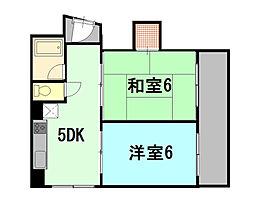 ミユキコーポラス[2階]の間取り