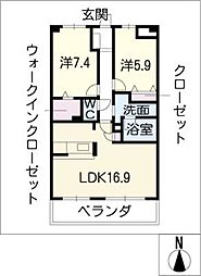 THE PARK TOKINOTERRACE[4階]の間取り