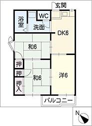 スカイルコスモスC棟[2階]の間取り