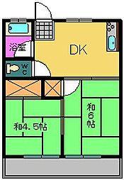 中山ハイツ[106号室]の間取り