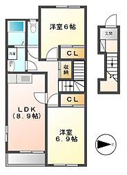 エクシード III[2階]の間取り