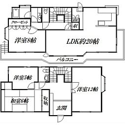 [一戸建] 静岡県浜松市中区富塚町 の賃貸【/】の間取り