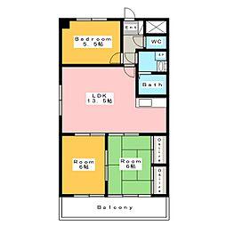 フローレンス三河安城[5階]の間取り