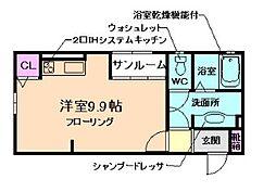 メープルヒル[2階]の間取り