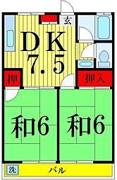 東京都足立区青井6丁目の賃貸アパートの間取り