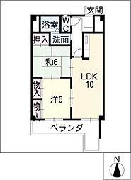 ファーストKATOビル[4階]の間取り