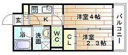 福岡県宗像市自由ヶ丘3丁目の賃貸マンションの間取り
