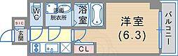 JR東海道・山陽本線 神戸駅 徒歩6分の賃貸マンション 9階1Kの間取り