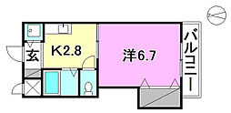 インペリアル志津川[402 号室号室]の間取り