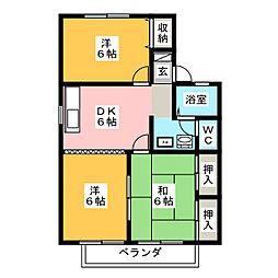メゾン・ド・マージュ B棟[1階]の間取り